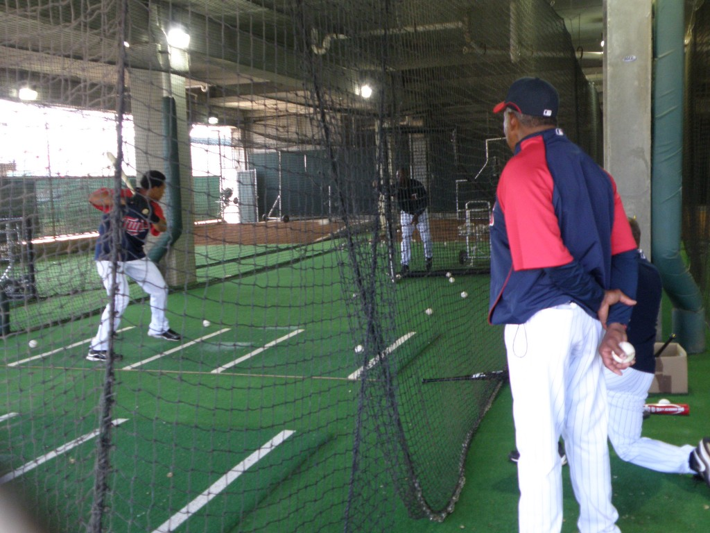 Tony Oliva's watchful eye