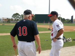 Tom Kelly and Paul Molitor on the Minor League spring training fields