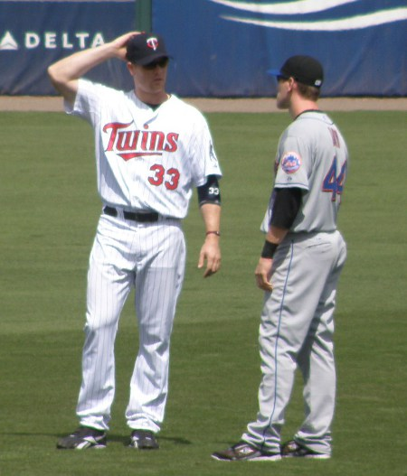 Morneau and Jason Bay chatted before the game. Bay, Like Morneau, missed the second half of the 2010 season with a concussion