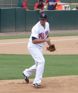 Anthony Swarzak gave up 1 run on 6 hits with no walks and 6 Ks in six full innings of work for the Twins