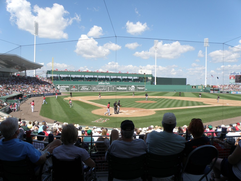 JetBlue Park from behind home plate