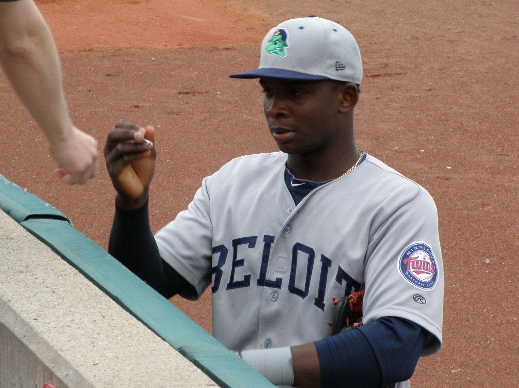 Miguel Sano as a Beloit Snapper