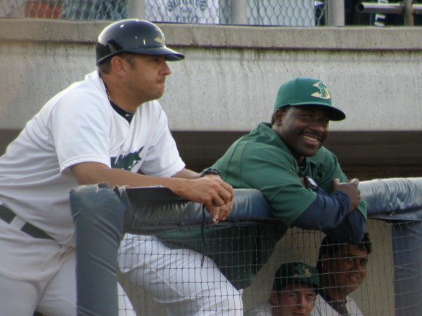 Manager Nelson Prada and Hitting Coach Tommy Watkins