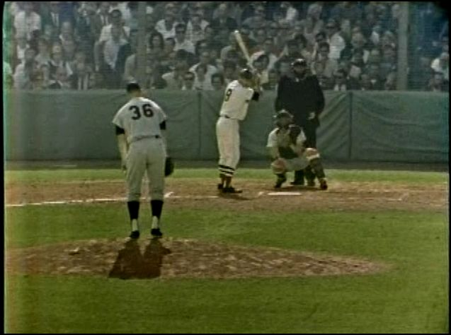 Twins pitcher Jim Kaat faces Carl Yastrzemski on September 30, 1967