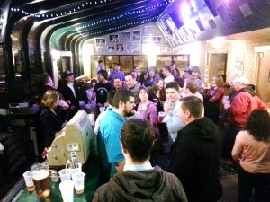 The gathering at Hubert's, hosted by Twins Daily