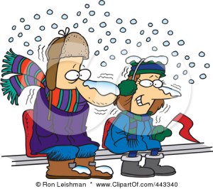 443340-Royalty-Free-RF-Clip-Art-Illustration-Of-Cartoon-Diehard-Fans-Sitting-In-The-Snow