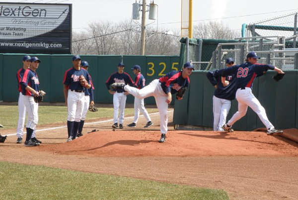 Kernels pitchers getting in pregame bullpen sessions