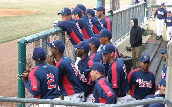 Kernels players enjoying the introductions