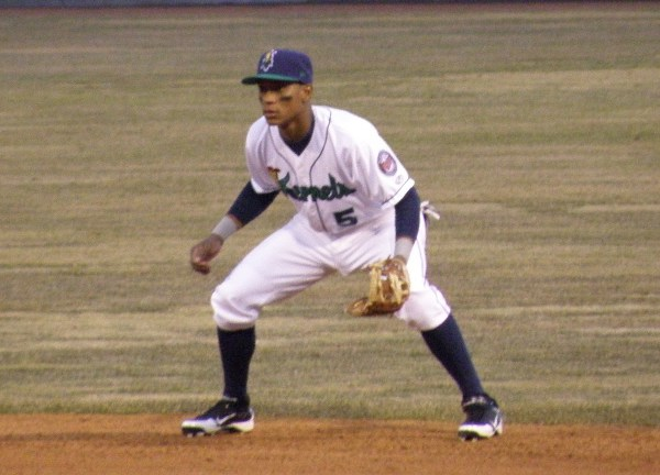 Jorge Polanco as a Cedar Rapids Kernel