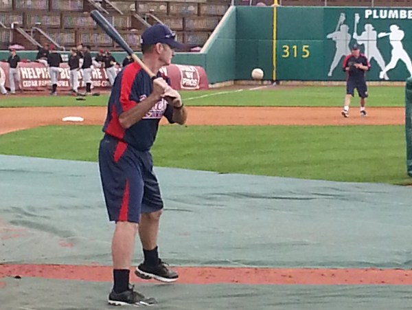 Paul Molitor hitting ground balls to Kernels 3B Travis Harrison