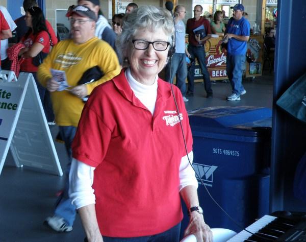 Twins organist Sue Nelson