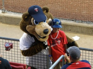 TC Bear entertained fans and posed for pictures