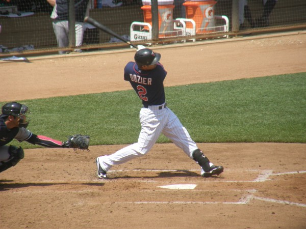 Dozier at bat