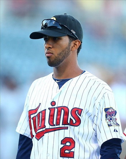 Eddie Rosario during an AFL game. Phot Credit: Mark J. Rebilas-USA TODAY Sports