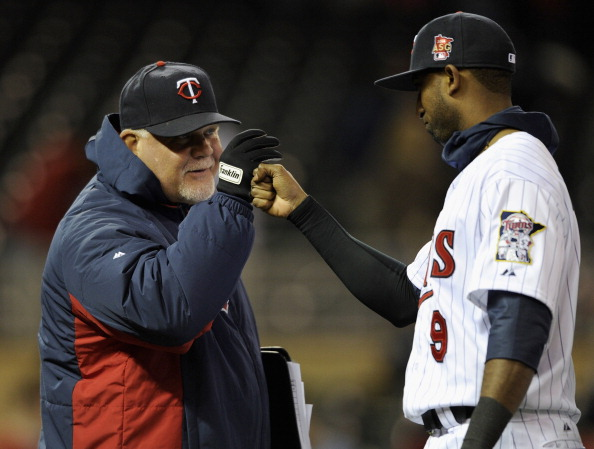 Ron Gardenhire and Eduardo Nunez (Photo by Hannah Foslien/Getty Images)