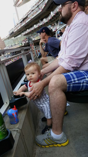 "My grandson's first trip to Target Field. Kind of gave ""Futures Game"" a different meaning to me."