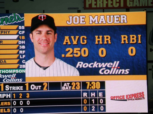 You may have heard, Joe Mauer is a Cedar Rapids Kernel this week.