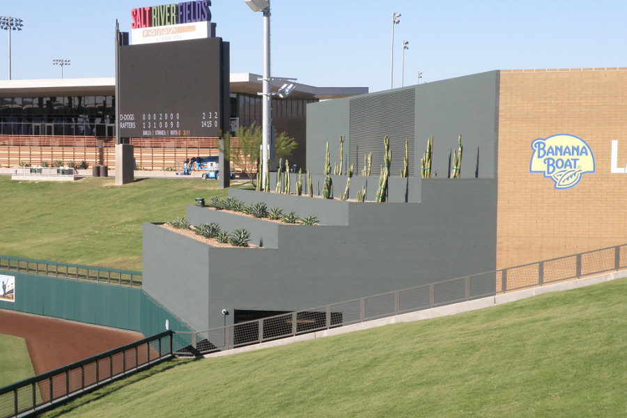 Salt River Field Batters Eye - Wonder if the hitters complain about it like the trees at Target Field