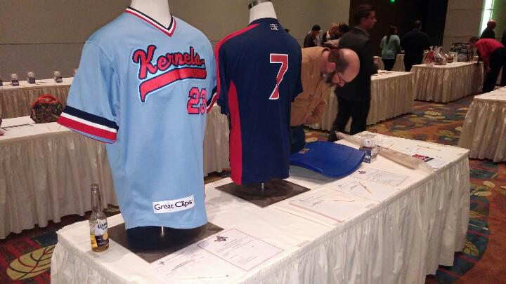 Joe Mauer's autographed Kernels jersey, Byron Buxton's autographed 2013 Batting Practice Jersey and a Metrodome seatback autographed by Joe Mauer were among the biggest ticket silent auction items