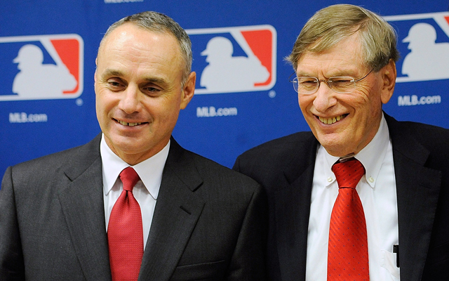 Rob Manfred, Bud Selig (Getty Images)