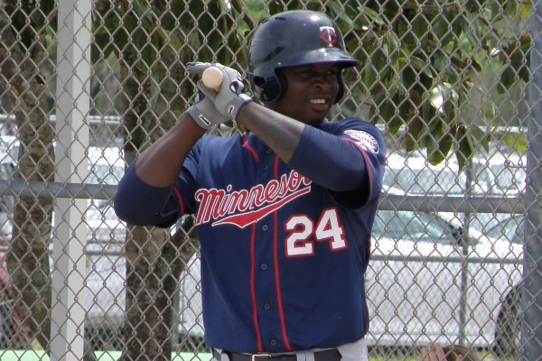 As a minor leaguer in spring training, Miguel Sano wore no. 24. Will he replace the player currently wearing that jersey with the Twins? (photo: SD Buhr)