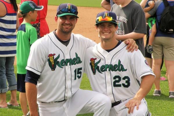 Randy LeBlanc (15) and Brett Doe (23)