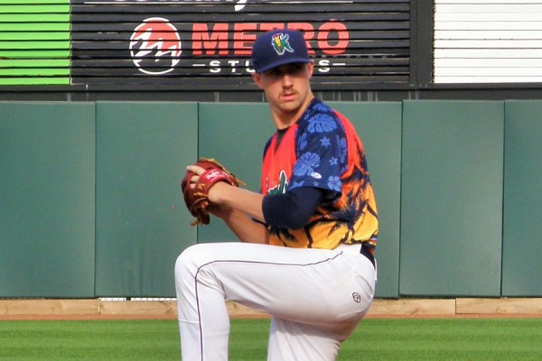 Sam Gibbons posted a 2.89 ERA in 15 starts for the Kernels in 2015. He's back in Cedar Rapids to start 2016.(Photo: SD Buhr)