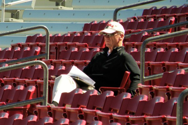 Terry Ryan must feel it's lonely at the top at times (Photo: SD Buhr)