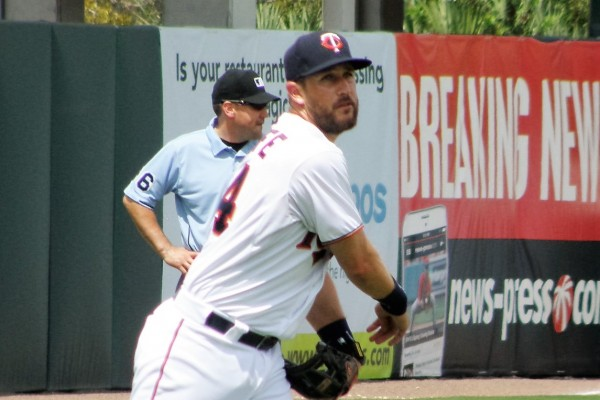 Trevor Plouffe in a Twins uniform, where he should stay, at least for now (Photo: SD Buhr)