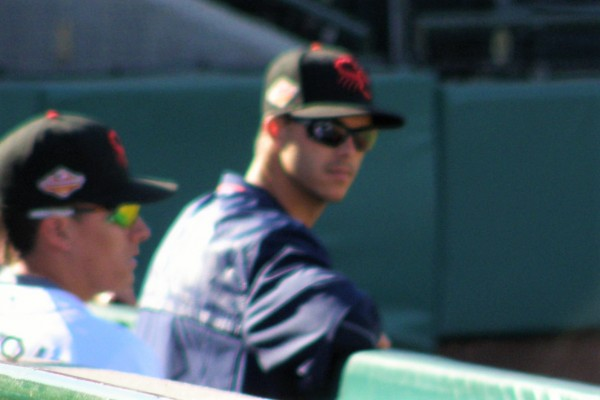 Since Taylor Rogers didn't pitch while I was there, this is the best picture I have of him (at least it kind of looks like a blurry version of him).