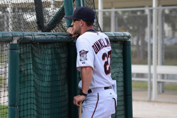 New Kernels hitting coach Brian Dinkelman