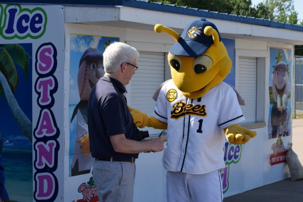You think it's easy being a sports columnist? Just TRY to get a decent interview out of a mascot.
